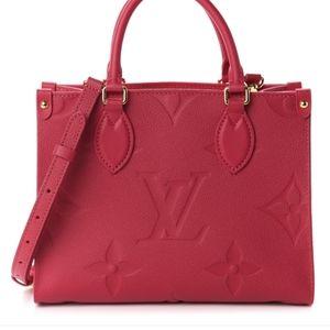 Pink Louis Vuitton Empreinte Monogram Onthego PM